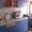 Б У Кухня Синяя с Оранжевым Красивая Удобная Взаимо заменяемая #1296578